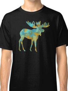 Moose Watercolor Art Classic T-Shirt