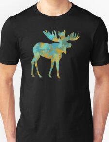 Moose Watercolor Art T-Shirt