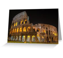 Coliseum in Rome Greeting Card