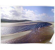 Sandbars on a Hebridean Beach Poster