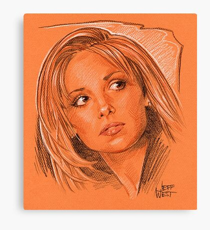 Our favorite vampire slayer, Buffy Canvas Print