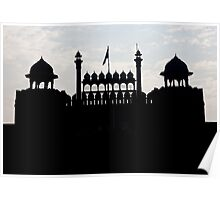 Silhouette Of The Red Fort Poster