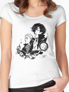 The Detective and the Doctor Women's Fitted Scoop T-Shirt