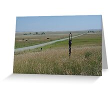 LITTLE PUMP ON THE PRAIRIE Greeting Card