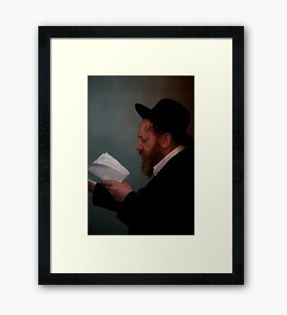 Praying in the Ohel of Rabbi Elimelech. Mazel tow . Harcikn Dank ! A dank ojch zejer!   From my Midrasz  by Doktor Faustus. Favorites: 3 Views: 381 Framed Print