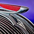 1937 Hudson Terraplane 4 Door Sedan Hood Ornament by Jill Reger
