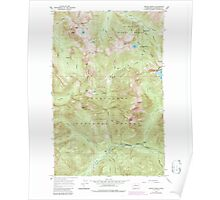 USGS Topo Map Washington State WA Monte Cristo 242381 1965 24000 Poster