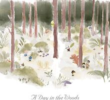A Day in the Woods (with title) by LittleCloudShop