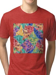 Geometric Rainbow Tri-blend T-Shirt