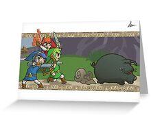 Triforce Heroes Legend of Zelda Greeting Card