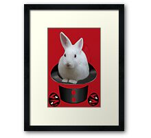 *•.¸♥♥¸.•* WHO PULLED WHO OUT OF THE HAT *•.¸♥♥¸.•* Framed Print