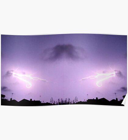 Lightning Art 42 Poster