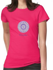 breathe water drop Womens Fitted T-Shirt