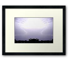 Lightning Art 48 Framed Print