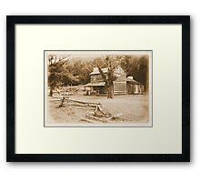 Philip's Place from the Fence Line Framed Print