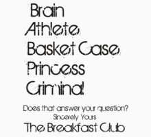 Sincerely yours the breakfast club by damdirtyapeuk