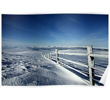 Icy Fence, Ochil Hills, Central Scotland Poster