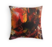 The Dark Territory Throw Pillow