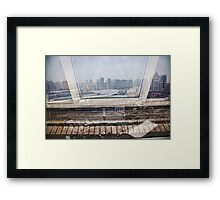 From a Window Framed Print