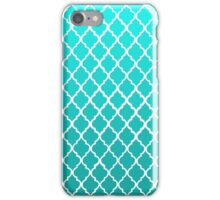 Moroccan Pattern - Teal iPhone Case/Skin