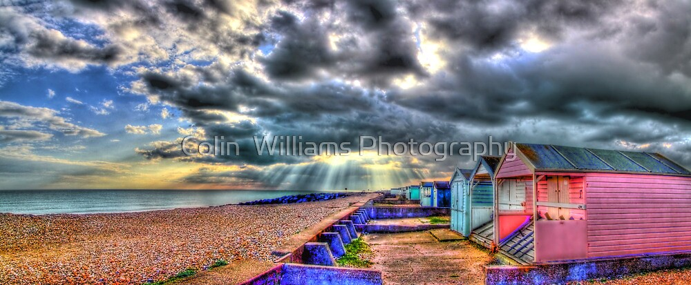 Worthing  Beach Huts - HDR by Colin  Williams Photography