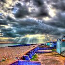 Worthing  Beach Huts - HDR by Colin J Williams Photography
