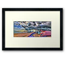 Worthing  Beach Huts - HDR Framed Print