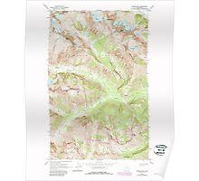 USGS Topo Map Washington State WA Goode Mtn 241357 1963 24000 Poster
