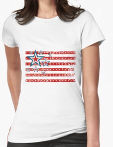 American Flag Stars and Stripes Womens Fitted T-Shirt