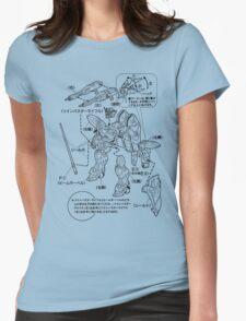 GUNDAM INSTRUCTIONS Womens Fitted T-Shirt