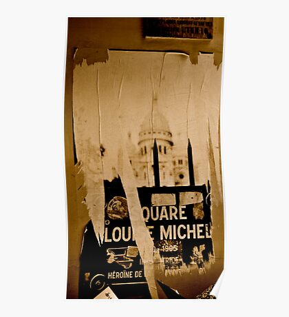 Wall Art in Paris Poster