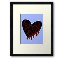 Jet black heart graphic Framed Print