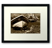 Fishing Cobles at Low Tide Framed Print