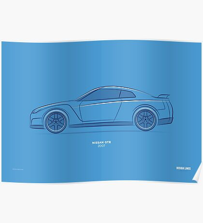 Design Lines - Nissan GTR Poster