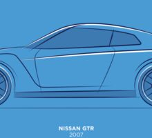 Design Lines - Nissan GTR Sticker