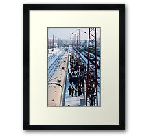 Mongolian moving market at Ilansky station - Ilansky District - Siberia Framed Print