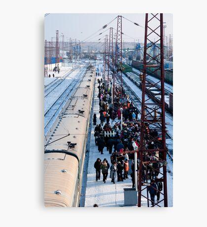 Mongolian moving market at Ilansky station - Ilansky District - Siberia Canvas Print