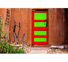 Red and Green Door Photographic Print