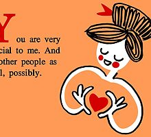 Friendship card-special to me by diabolickalFUN