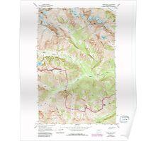 USGS Topo Map Washington State WA Goode Mtn 241356 1963 24000 Poster