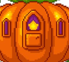 Pixel Pumpkin Carriage Sticker