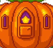 Pixel Pumpkin Carriage Sticker