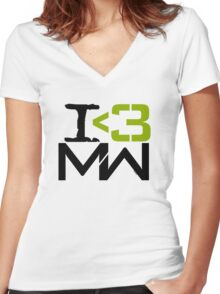 I <3 MW Women's Fitted V-Neck T-Shirt
