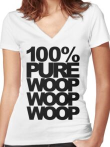 100% Pure Woop Woop Woop (light) Women's Fitted V-Neck T-Shirt