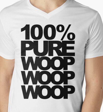 100% Pure Woop Woop Woop (light) Mens V-Neck T-Shirt