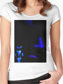 Blue Ghosts Women's Fitted Scoop T-Shirt