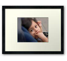 Child in the Park Framed Print