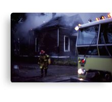 Fire in Detroit 1978 Canvas Print