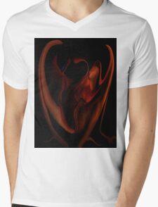 Fire Side 1f Mens V-Neck T-Shirt