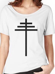 Papal Cross Women's Relaxed Fit T-Shirt